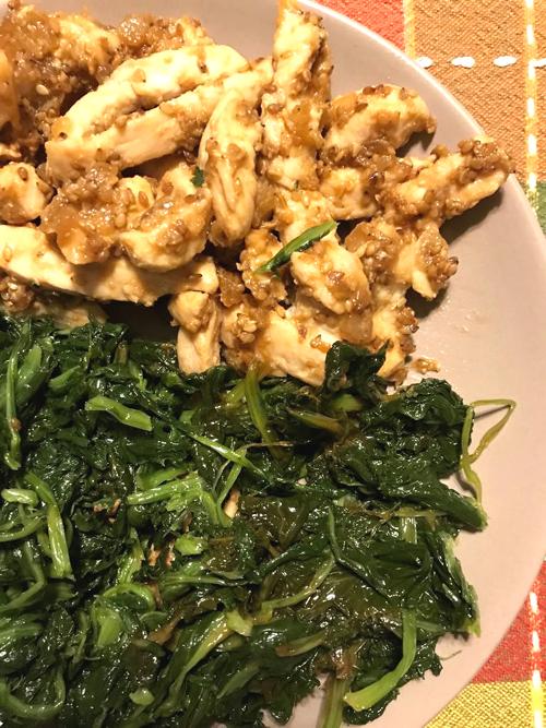 bocconcini di petto di pollo al miso e semi di sesamo