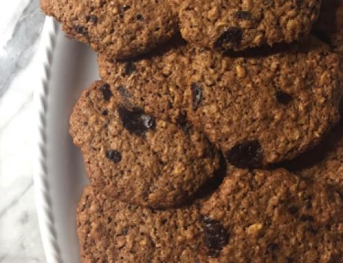 Biscotti fiocchi d'avena e cacao