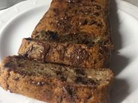 Banana bread con gocce di cioccolato