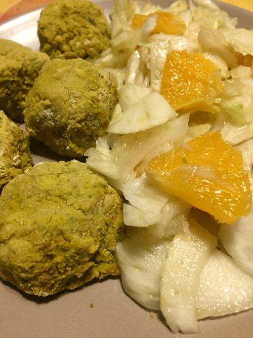 falafel di ceci e piselli